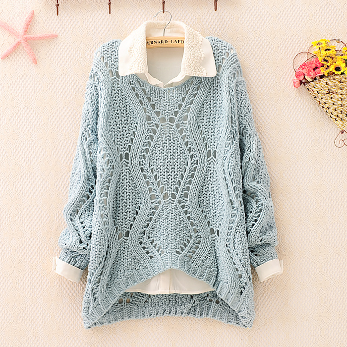Over Size Knit Sweater For Women on Luulla